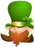 Personaje de dibujos animados del día de St Patrick - ejemplo del vector Fotos de archivo