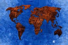 Arte del diseño de la pintura del mapa del mundo ilustración del vector