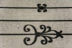 Arte del diseño del extracto de la sombra en el hormigón Fotografía de archivo libre de regalías