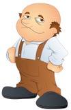 Uomo calvo grasso - illustrazione di vettore del carattere di fumetto Fotografie Stock