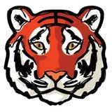 Arte del disegno di contorno della tigre del fronte royalty illustrazione gratis