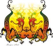 Arte del drago Immagine Stock