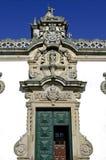 Arte del escultor en el palacio antiguo Dos Malheiras de la capilla Fotografía de archivo