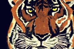 Arte del fronte della tigre Fotografie Stock