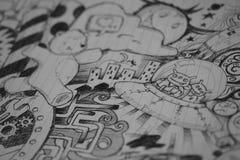 Arte del garabato Foto de archivo libre de regalías