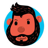 Arte del garabato de la cabeza del mono Fotos de archivo libres de regalías