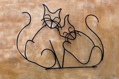 Arte del gatto di piegamento Immagini Stock