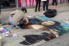 Arte del gesso del marciapiede Immagini Stock Libere da Diritti