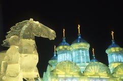 Arte del ghiaccio Fotografia Stock Libera da Diritti