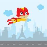 arte del héroe del tema del activo del juego del super héroe de la historieta stock de ilustración