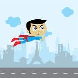 arte del héroe del tema del activo del juego del super héroe de la historieta libre illustration