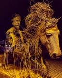 Arte del hombre del caballo de las formas fotos de archivo libres de regalías