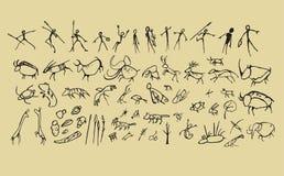 Arte del hombre de las cavernas Fotografía de archivo libre de regalías