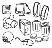 Arte del icono del ordenador Fotografía de archivo