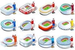 Arte del jersey del club de los estadios de fútbol de Rusia ilustración del vector