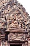 Arte del Khmer en la piedra Imágenes de archivo libres de regalías