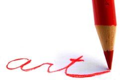 Arte del lápiz Fotografía de archivo