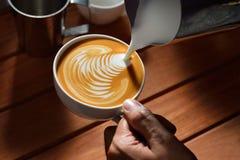 Arte del Latte Immagine Stock Libera da Diritti