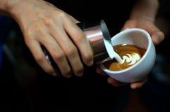 Arte del Latte Fotografia Stock Libera da Diritti