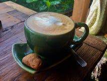 Arte del Latte bali Caffè fotografia stock libera da diritti