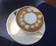 Arte del Latte Caffè fotografia stock libera da diritti