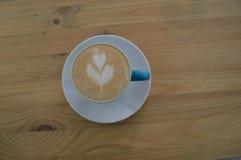 Arte del latte de Coffe Fotos de archivo libres de regalías