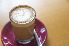 Arte del latte de Macchiato Foto de archivo libre de regalías