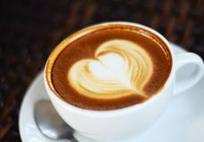 Arte del latte del caffè Immagine Stock Libera da Diritti