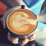 Arte del latte del caffè Immagini Stock