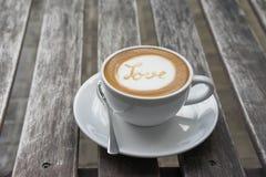 ARTE del LATTE del caffè di AMORE Fotografia Stock Libera da Diritti