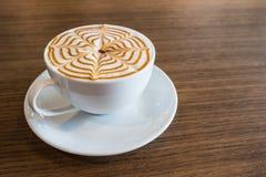Arte del latte della tazza di caffè Fotografia Stock