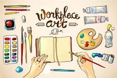 Arte del lugar de trabajo Fotografía de archivo