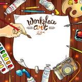 Arte del lugar de trabajo Imágenes de archivo libres de regalías