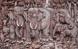 Arte del modanatura dell'elefante Fotografie Stock Libere da Diritti
