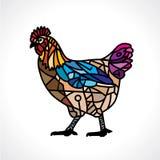 Arte del mosaico con el pollo Imagenes de archivo