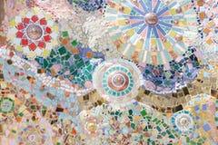 Arte del mosaico della Tailandia sulle pareti del tempio immagine stock