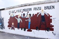 Arte del muro de Berlín Imagenes de archivo