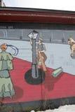 Arte del muro di cinta, Nashua, New Hampshire Immagini Stock
