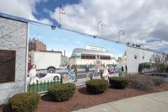 Arte del muro di cinta, Nashua, New Hampshire Fotografia Stock