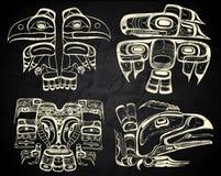 Arte del nativo del Canada e di Nord America Fotografia Stock Libera da Diritti