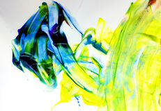 Arte del niño en azul y amarillo imágenes de archivo libres de regalías