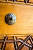 Arte del otomano con los modelos geométricos en la madera Imagen de archivo libre de regalías