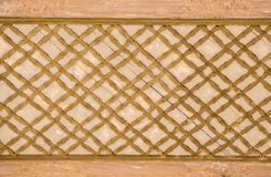 Arte del otomano con los modelos geométricos en la madera Fotos de archivo