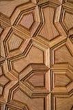 Arte del otomano con los modelos geométricos en la madera Imagenes de archivo