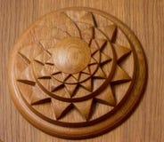 Arte del otomano con los modelos geométricos en la madera Fotos de archivo libres de regalías
