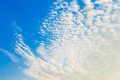 Arte del paesaggio della natura del dettaglio del cielo Immagini Stock