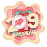 Arte del papel de Feliz Año Nuevo Fotos de archivo