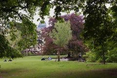 Arte del parque - parque de Burggarten en Viena fotografía de archivo