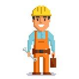 Arte del pixel del constructor Foto de archivo