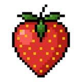 Arte del pixel della fragola illustrazione vettoriale